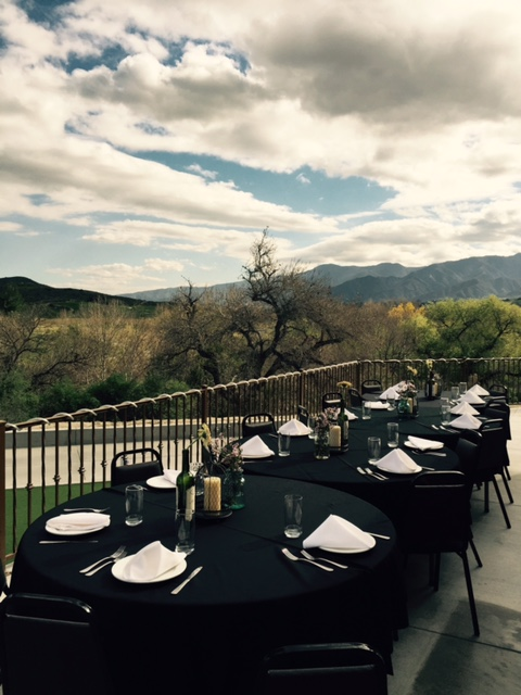 The Arroyo Room provides beautiful views of the Corona countryside
